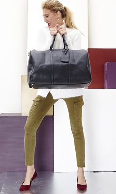 Carry this weekender with a relaxed print combo or jewel tones.