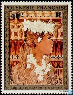 Postage Stamps - French Polynesia - Artists in Polynesia
