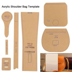 Diy bags 493144227943980414 - Clear Transparent Acrylic Template For Leathercraft Leather Pattern DIY Handbag Source by mariasantarlacc Leather Gifts, Leather Bags Handmade, Leather Craft, Leather Purses, Leather Handbags, Leather Wallet, Handbag Patterns, Bag Patterns To Sew, Crea Cuir