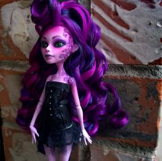 Wisteria OOAK custom Monster High Operetta by Lady Spoon Art @lady.spoon.art and Denisa Medrano @denisa.medrano