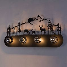 """ZEETOON 110-240V 23.6"""" American Country Style Creative Iron Bedside Vintage Front Mirror Light #artwork, #awesome, #industrial, #vintage"""
