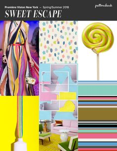 Première Vision New York - S/S 2018 Uneven Stripes / Candy Colours / Bright Citron / Happy Pinks / Sweet Tangerine Sunshine Yellow / Placed Floral Motifs