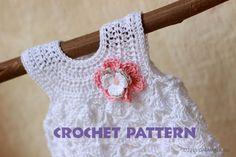 Bebé del ganchillo patrón patrón de vestido de niña por GAMMAkids