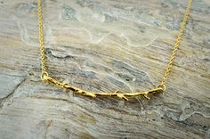 dainty branch necklace