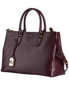 51217625ed1e Lauren Ralph Lauren Newbury Double Zip Collection Handbags   Accessories -  Macy s