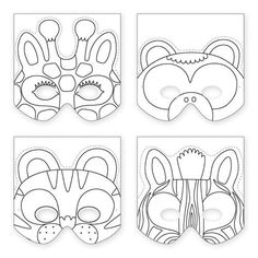 Artist in LA LA Land Illustration & Design: Papercraft DIY Art Projects: Make Your Own Animal Mask by Galison Publishing Really want fantastic tips concerning crafts? Head to our great info! Jungle Crafts, Vbs Crafts, Felt Crafts, Paper Crafts, Safari Animal Crafts, Animal Masks For Kids, Mask For Kids, Toddler Crafts, Crafts For Kids