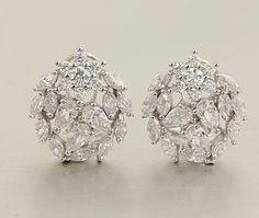 925 silver earrings, cubic zirconia stone, OEM ok, item number: BT04097