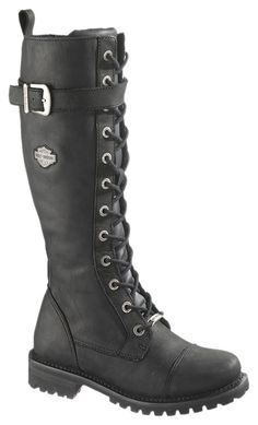 "81489 - Harley-Davidson® Womens Savannah 16"" Tall Lace Black High Cut Riding Boot - Barnett Harley-Davidson® I WANT THEM !!!"