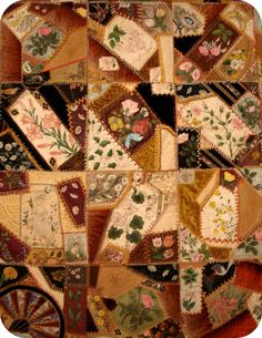 I ❤ antique quilts  . . . 19th Century Crazy Quilts exhibit at the Shelburne Museum