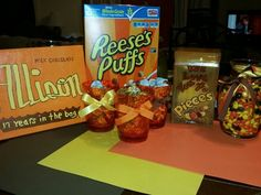 Presents for a teenager who wanted a reese's birthday!