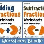 Adding and Subtracting Fractions worksheets - A total of 900 worksheets with answer keys.  ========================================================...