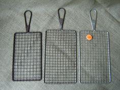 Vintage Repurposed Wire Memo Note Boards Jewelry Display Industrial