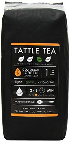 Tattle Tea Organic Co2 Decaf Green Tea, 1 Pound -- You can find more details by visiting the image link.