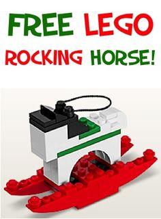Cheval à bascule en #lego pour décorer le sapin de #noël