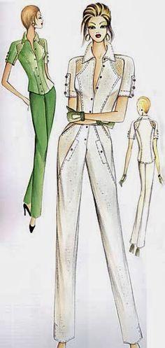 quenalbertini: Marfy 2005 by Irina Vladimirova, Picasa Web Albums Marfy Patterns, Vogue Patterns, Fashion Sketchbook, Fashion Sketches, Hijab Fashion, Fashion Art, Fashion Design, Illustration Mode, Power Dressing