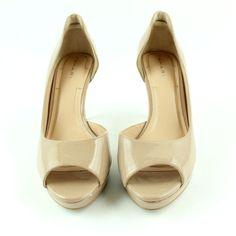 062419d72d78 Tahari Bailynn Peep Toe Heels Women s Size 7-1 2 M Nude   Beige
