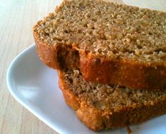 Quick And Easy Banana Bread Recipe with honey and greek yogurt, (good for you!) instead of sugar and oil, which are hard for your body to digest.