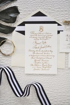 Love the bold stripe in black or dark navy. Very pretty combo.  Love the script, but not for business.