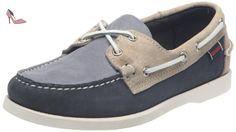 Sebago Docksides Shearling, Chaussures Bateau Homme, Bleu (Navy Suede), 44.5 EU
