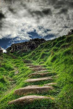 by Don Alexander Lumsden (near the beach at Fife Ness, Crail, Scotland ) – Looks like there should be mermaids at the bottom of the stairs and fairies at the top. I could sit on those stairs and dream away the day.