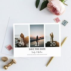 Save The Date Pictures, Unique Save The Dates, Wedding Save The Dates, Save The Date Ideas, Wedding Album, Wedding Cards, Wedding Photos, Wedding Collage, Save The Date Designs