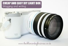 How to make a lightbox - The cheap and easy way! - Double the Monkey Business