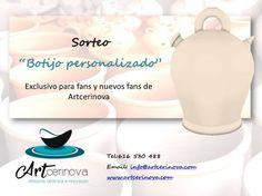 """SORTEO """"BOTIJO PERSONALIZADO""""para FANS de ARTCERINOVA."""