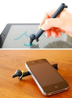 Touch Dog Dachshund stylus pen by TENT by vicky.spathi