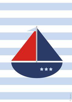 Plakat marynarski - Statek