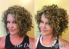 Also depends on the hair product applied - Lange Haare Curly Hair With Bangs, Curly Hair Tips, Wavy Hair, Short Hair Cuts, New Hair, Curly Hair Styles, Perms For Short Hair, Haircuts For Curly Hair, Permed Hairstyles