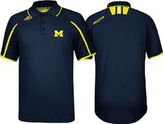 adidas Michigan Wolverines 2013 Climalite Sidelines Polo Shirt