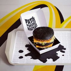 Paint Splattered Burger #food #Burger #Art