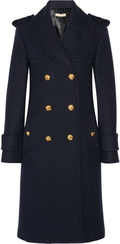 Michael Kors Collection Double-breasted melton wool coat I just got this and I love it