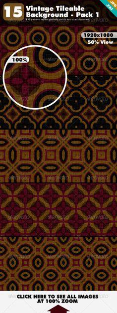 Vintage Tileable Background Pack 1