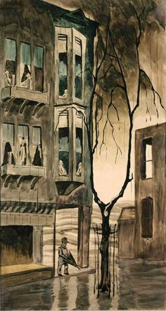Three Days Rain,1918 by Charles Burchfield (American 1893-1967)