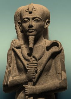 Sculpture of the Ancient Egyptian god Khonsu from the Khonsu Temple at Karnak; Egyptian Museum, Cairo.