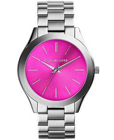 Michael Kors Women's Slim Runway Stainless Steel Bracelet Watch 42mm MK3291 - Watches - Jewelry & Watches - Macy's