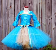 Brave inspired floor length corset  undershirt and tutu set.  Perfect for a pageant party or halloween costume 18 month 24 mos 2T 3T 4T 5 6