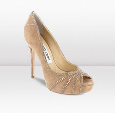 Jimmy Choo Kafir Nude and Bronze Peep Toe Pumps Christian Louboutin, Bridal Sandals, Jeweled Sandals, Shoe Gallery, Only Shoes, Valentino Shoes, Jimmy Choo Shoes, Fashion Sandals, Ankle Strap Heels