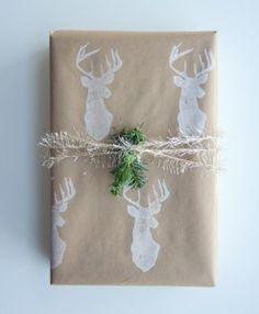 DIY grabar sello de caucho tinta blanca personalizar regalos de navidad
