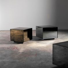 Bronze Cube side table - by Notre Monde