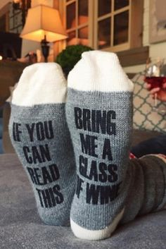 'Bring me a glass...' Socks
