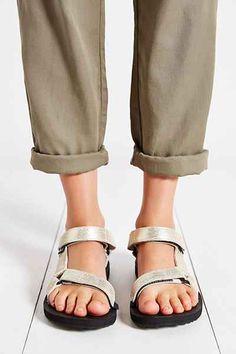 Teva Original Leather Metallic Sandal - Urban Outfitters