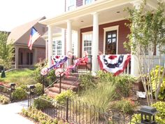 Another patriotic porch in Tucker Hill (McKinney, TX)