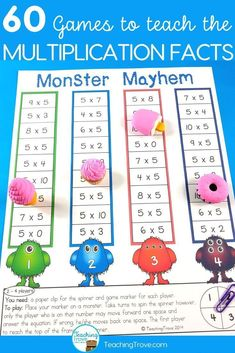 Multiplication games are great for consolidating the multiplication facts from 1 to 12.