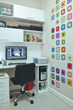 Home office decorado. Mais dicas sobre decoração - http://www.brisadatarde.com