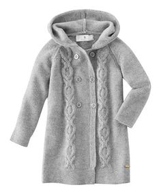 7652474b93bb9d Take a look at this Gray Mélange Cable-Knit Cardigan - Girls by bellybutton  Kids