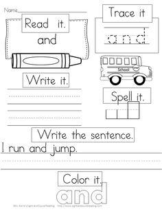 Fun school worksheets learning kindergarten sight word for grade educational k . Sight Word Worksheets, Sight Word Activities, School Worksheets, Alphabet Worksheets, Alphabet Activities, Word Games, Teaching Sight Words, Sight Word Practice, Teaching Reading