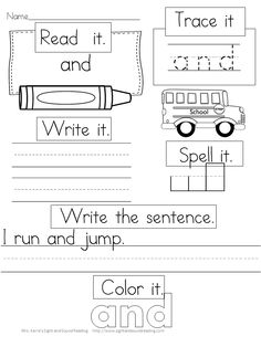 ($) Need a fun, interactive activity to help practice sight words? Great practice work for kindergarten, first grade, classroom or homeschool. Perfect for morning work, literacy centers, independent seat work, guided activities and homework! Each worksheet features one of the Dolch sight words. Students read, color, trace, write, spell,and write a sentence for each word. 633 pages in all! Great practice for reading and writing!