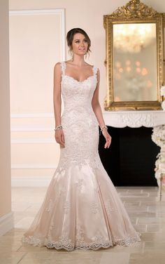Stella York Wedding Dresses - Search our photo gallery for pictures of wedding dresses by Stella York. Find the perfect dress with recent Stella York photos. Wedding Dresses With Straps, Fit And Flare Wedding Dress, 2016 Wedding Dresses, Lace Mermaid Wedding Dress, Gorgeous Wedding Dress, Mermaid Dresses, Bridesmaid Dresses, Lace Dresses, Stella York Bridal